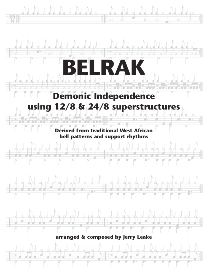 Belrak drum book cover